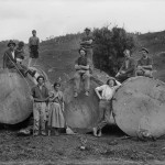 Kauri logging gang 1840s. Archives New Zealand